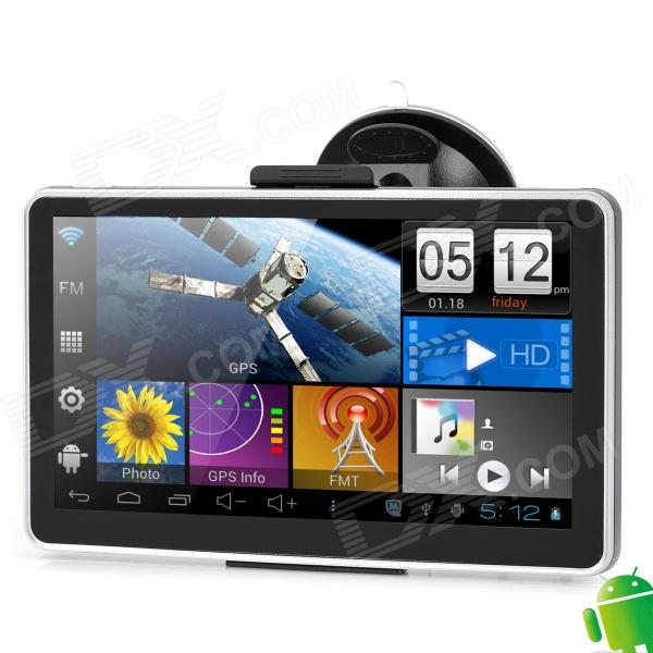 7 Quot Lcd Capacitive Screen Android 4 0 Car Gps Navigator W