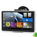 "7"" LCD Capacitive Screen Android 4.0 Car GPS Navigator w/ Wi-Fi / Europe Map - Black + Silver"