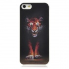 Cool Change Freely Tiger & Wolf Style 3D Graphic Protective Plastic Case for Iphone 5 - Black