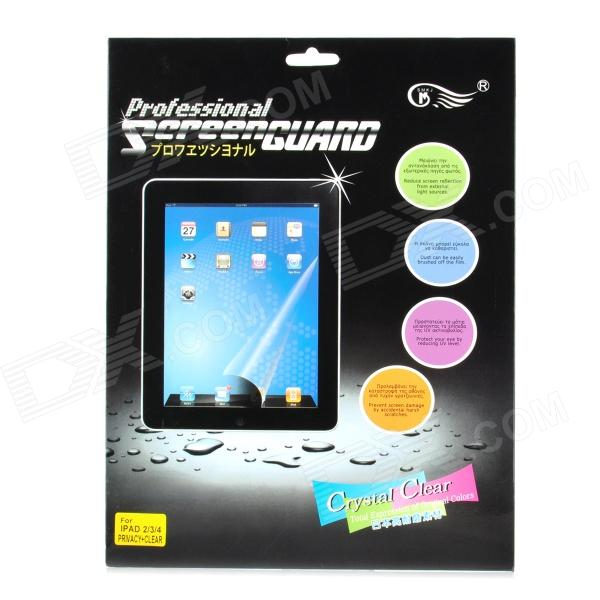 Protective Privacy Anti-Screen Protector + Normal Screen Film for Ipad 2 / The New Ipad & Ipad 4