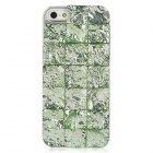 Resin Imitation Diamond Checked Pattern Protective Case for iPhone 5 - Green