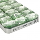 Resin CrystalChecked Pattern Protective Case for Iphone 5 - Green