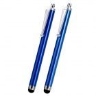 Touch Screen Stylus Pens w/ Clip for iPhone 5 + More - Blue (2 PCS)