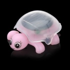 Linda Solar Powered Plastic Mini Tortoise - Rosa