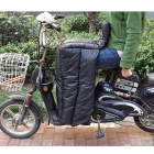 Water Resistant Windproof Motorcycle Riding Cotton Leg Warmer Quilt - Black