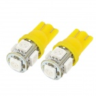 T10 3.5W 65lm 580nm 5-SMD 5050 LED Yellow Car Brake / Steering / Reversing Lamps (12V / 2PCS)