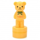 Cute Little Bear Style Plastic Stamp - Yellow