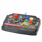 USB Wrestle Joystick Street Fighter Game Controller - Multicolored