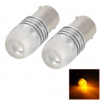 L20121231-3 1156 2W 130lm 590nm 1-SMD 4040 LED Yellow Car Steering / Brake Lamps (12V / 2 PCS)