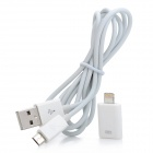 8-pin Lightning to Micro USB Data Cable w/ Adapter for iPhone 5 / iPad 4 + More - White (100cm)