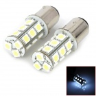 LY148 1157 5.4W 6000K 216lm 18-SMD 5050 LED White Car Brake Lamps (12V / 2 PCS)