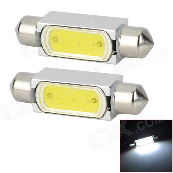 42mm 3W 150lm 6000K 1-LED White Light Indoor / Reading Lamp - Silver + Yellow (DC 12V / 2 PCS)
