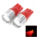 LY200 T10 7W 280lm 700 ~ 635nm LED-Rotlichtlampen Car w / CREE-XP-E R3 - (DC 12V / 2 PCS)