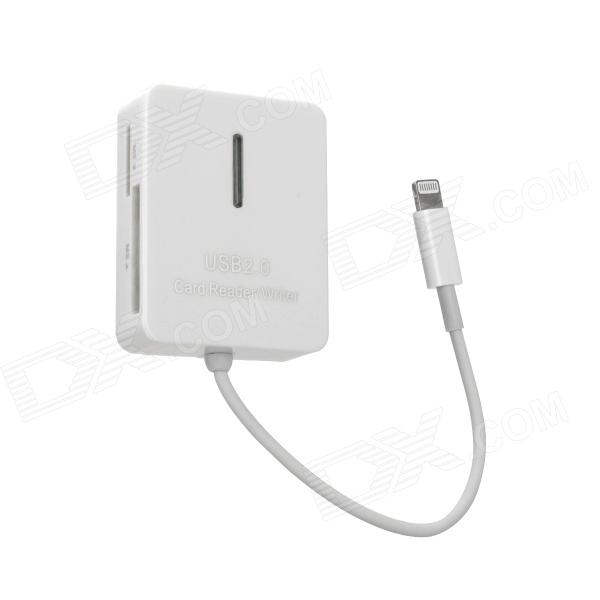 5-in-1 TF / SD / MMC / MS / M2 Card Reader Connection Kit for iPad Mini / iPad 4 - White