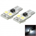 T10 1.2W 48lm 4-SMD 5050 LED White Light Decoding Car Lamps - Silver + Yellow (DC 12V / 2 PCS)