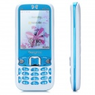 "Q8 GSM Bar Phone w/ 2.4"" Screen, Quad-Band, TV, FM, Bluetooth 2.0 and Dual-SIM - Blue + White"