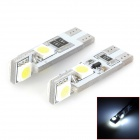 T10 1.2W 48lm 4-SMD 5050 LED White Decoded Car Clearance Lamp (12V / 2 PCS)