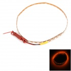 LY184 12W 180lm 45-SMD 1210 LED Yellow Car Flexible Light Strip - Golden + White (DC 12V / 40cm)