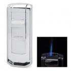 JOBON-937 Wind Resistant Stainless Steel Butane Jet Lighter - Silver