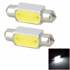 LY209 Festoon 36mm 3W 150lm 6000K White Light 1-LED Car Lamp (DC 12V / 2 PCS)