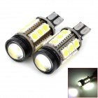 LY196 T15 4.8W 6000K 350lm 15-SMD 5050 + 1-LED White Car Reversing Lamps (12V / 2 PCS)