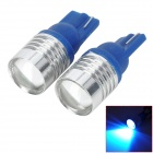 LY198 T0 7W 280lm 490~450nm LED Ice Blue Light Car Door / License Plate Light / Clearance Lamp (12V)