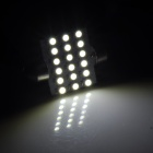 Festoon 39mm 1.8W 90lm 18-SMD 1210 LED White Car Reading Light (12V / 2 PCS)