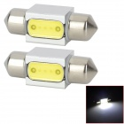 LY210 Festoon 31mm 3W 6000K 150lm White Car Reading / Room Lamps (2 PCS / 12V)