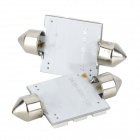 Festoon 39mm 3.6W 6000K 120lm 12-SMD 5050 LED Reading / Room Lamps (12V / 2PCS)