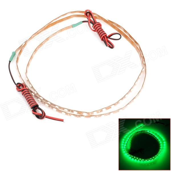 LY190 9W 360lm 560nm 90-SMD 1210 LED Green Car Flexible Lamp Strip (12V)