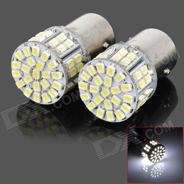 LY202 1157 5W 200lm 6000K White Light 50-SMD 1206 LED Car Turn Signal Lamp (DC 12V / 2 PCS) white yellow turn signal led drl warning lights daylight fog lamp for vw volkswagen polo 2014 2015