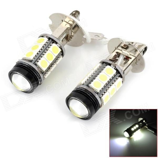 H3 4.8W 350lm 15-SMD 5050 LED + 1-LED Bulb White Car Foglight (12V / 2 PCS)