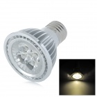 E27 5W 380 ~ 420lm 3000 ~ 3500K 5-LED Warm White Light Bulb - Silver (AC 220 V)