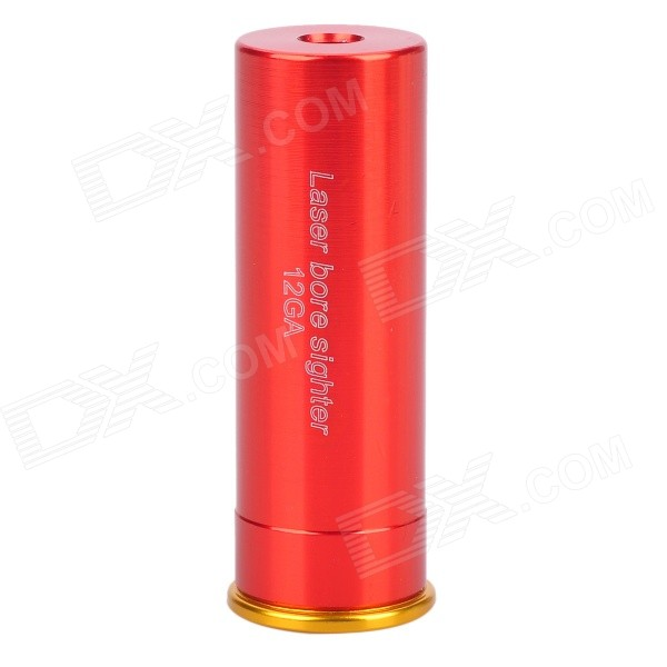 Aluminum Alloy Cartridge Red Laser Bore Sighter for 12GA Shotgun - Red (3 x AG13)