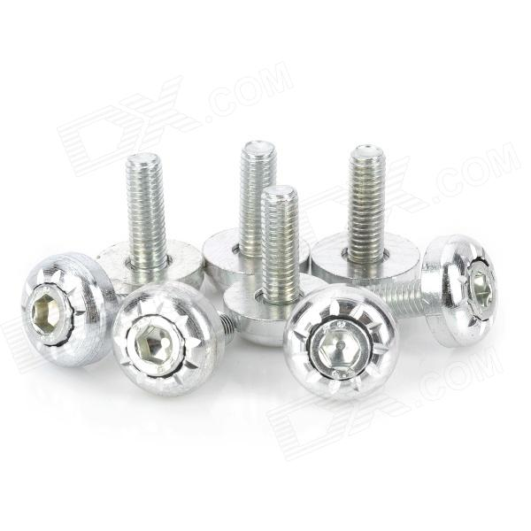 DIY 6mm Hotwheels Style Motorcycle Mounting Screws - Silver (8 PCS) usb3 0 round type panel mounting usb connecter silver surface