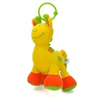 Lovely Plush Pony Style Baby Music Box Doll Toy w/ Hanging Ring - Green + Orange + Yellow
