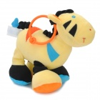 Lokyee 11528 Donkey Style Music Bell Tail-Pulling Toy - Yellow + Black + Orange + Blue