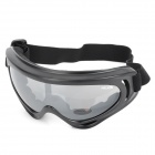 Motorcycle Riding Eye Protection Wind Proof PC Lens Goggles - Black