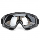 Motorcycle Riding Protección Ocular Proof Goggles viento lente PC - Negro