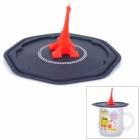 Paris Eiffel Tower Style Silicone Cup Cover - Red + Black