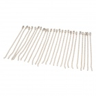 Zinc Alloy Bead Chain - Silver (25 PCS)