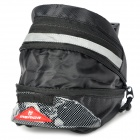 Cycling Bicycle Canvas Saddle Seat Tail Bag - Black