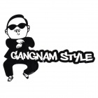 Creative Gangnam Style Car Decoration PET Reflective Sticker - Black