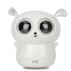 Cute Monkey Style 2-Channel Rechargeable Speaker - White + Black