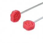 Thinkinge Kitchen Red Rose Stainless Steel Drink Muddler Stirrer - Red + Silver (2 PCS)