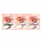 JYQ-087, 090, 119 Butterfly Pattern Eye Shadow Stickers Set - Red + Green (3 PCS)