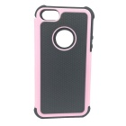 Protective Anti-Skid + Shock Resistant + Water Resistant Back Case for iPhone 5 - Pink + Black