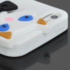 Cute 3D Cat Pattern Silicone Back Case for Iphone 5 - White