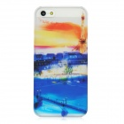 BASEUS SYAPIH5-PA Paris Sunset Pattern Protective Plastic Back Case w/ Screen Film for Iphone 5