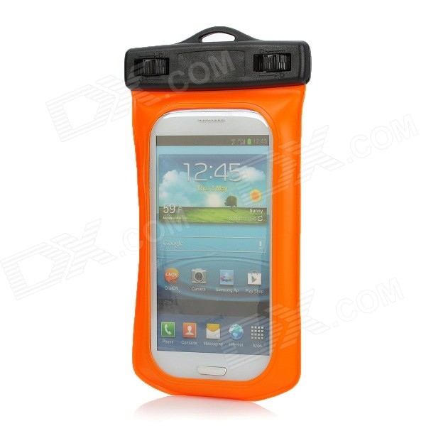 Waterproof Bag w/ Hook Style In-Ear Earphones / Strap for Samsung Galaxy S3 i9300 - Orange + Black аксессуар защитное стекло luxcase 0 33mm для apple iphone 8 7 6 6s plus 82097